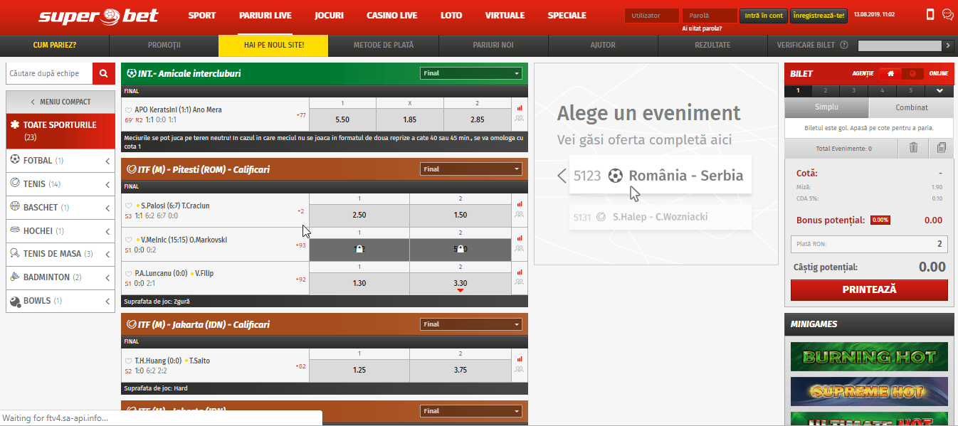 pariere live superbet