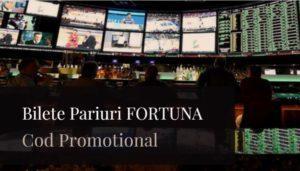 Bilete Pariuri FORTUNA, Cod Promotional