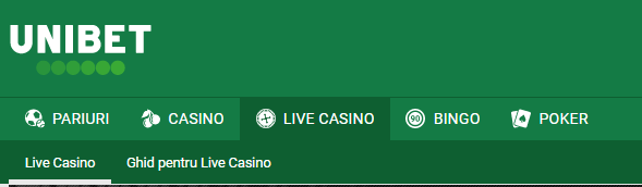 Categorii Unibet